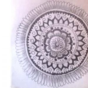 first mandala art by Vix