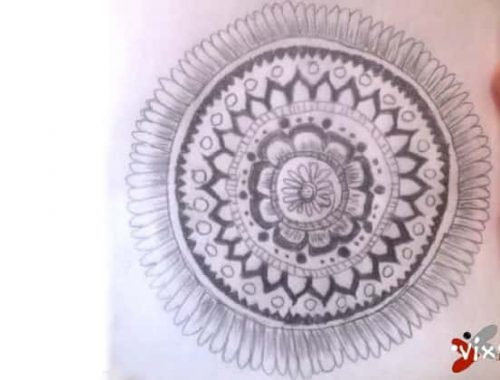 first mandala art by Vix