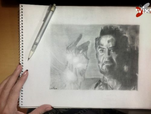Fan art tribute Iron Man - VixMaria
