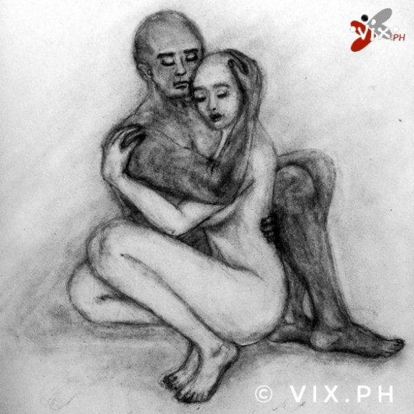Yin and Yang version 1. Mech pencil drawing by Vix Maria. ©vix.ph