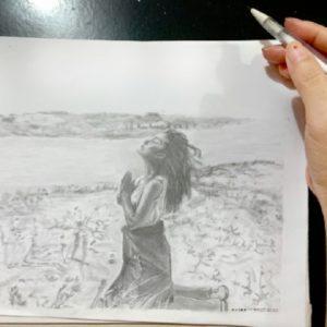 Milagro - mech pencil drawing by Vix Maria
