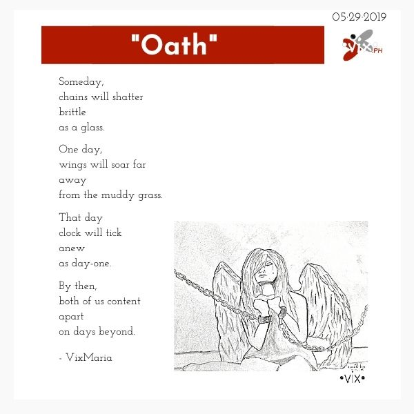 Oath - poem by VixMaria drawing by NaomiRose