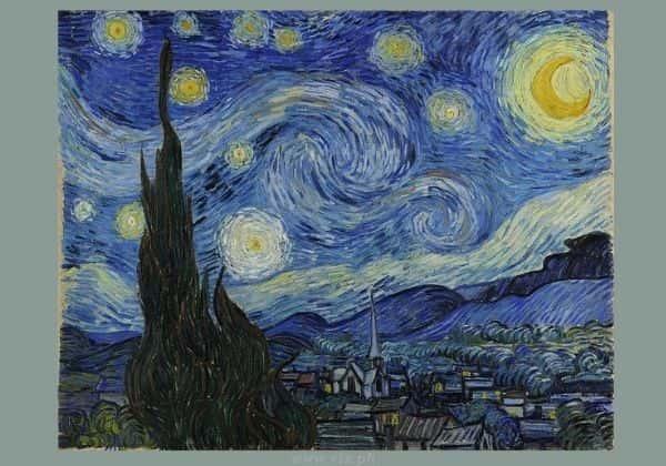 Vincent Van Gogh - Starry Night (1889) - public domain