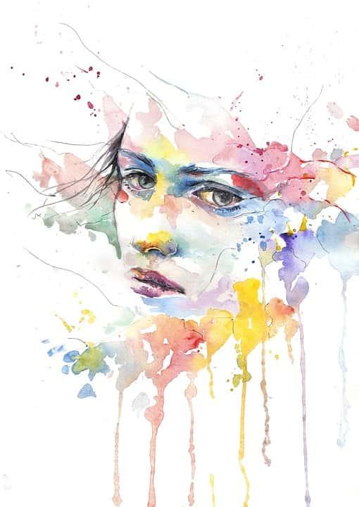 woman watercolor painting-min