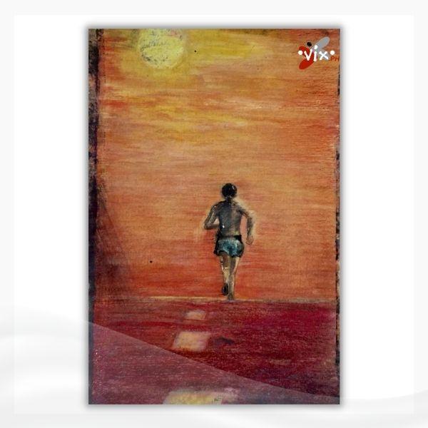 RUNNING MAN by Vix Maria - high school art